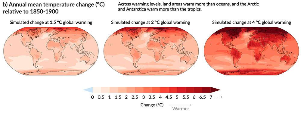 Figur 4 Temperaturokningene blir storst i nord